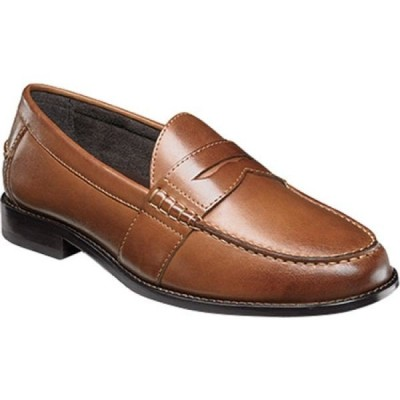 ナンブッシュ Nunn Bush メンズ スリッポン・フラット シューズ・靴 Noah Beef Roll Penny Loafer Cognac Leather