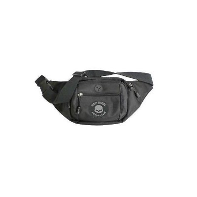 バッグ ハーレーダビッドソン Harley-Davidson Willie G Skull Logo Crossbody/Waistpack Bag, Black BP2252S-BLACK