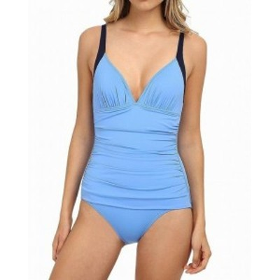 Tommy Bahama トミーバハマ スポーツ用品 スイミング Tommy Bahama NEW Blue Womens Size 12 Deck Piping One-Piece Swimwear