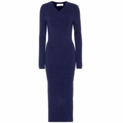 ヴィクトリア ベッカム Victoria Beckham レディース ワンピース ミドル丈 ワンピース・ドレス Wool-blend midi dress Navy Melange