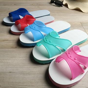 台灣製造-橡膠H拖-藍白拖鞋