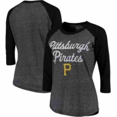 Majestic Threads マジェスティック スレッド スポーツ用品  Majestic Threads Pittsburgh Pirates Womens Black 3/4-