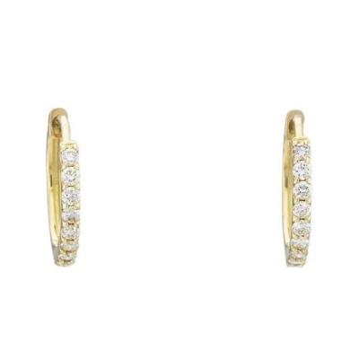 K18YG イエローゴールド ダイヤモンド 0.30ct ピアス フープピアス 6JBE4088710-KW 天然石