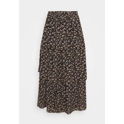 ヴィラ レディース スカート ボトムス VIMAY LAYERED SKIRT - Pleated skirt - black black