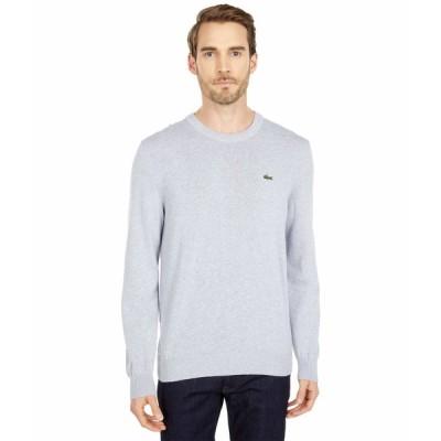 ラコステ ニット&セーター アウター メンズ Long Sleeve Crew Neck Sweater Silver Chine