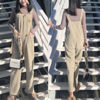 オールインワン コーデュロイ サロペット レディース オーバーオール カジュアル ボーイッシュ 小柄 小さいサイズ 小さい 服