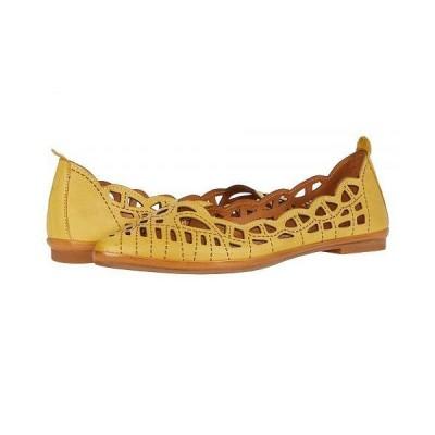 Spring Step スプリングステップ レディース 女性用 シューズ 靴 フラット Perlita - Yellow