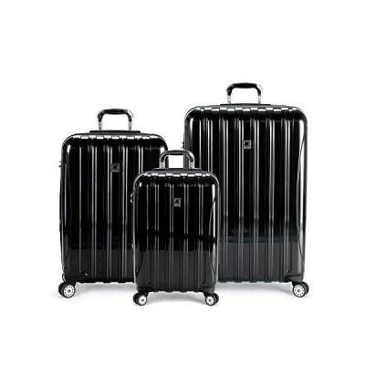 DELSEY Paris Helium Aero Hardside Expandable Luggage with Spinner Wheels, Black, 3-Piece Set (19/25/29)【海外平行輸入品】