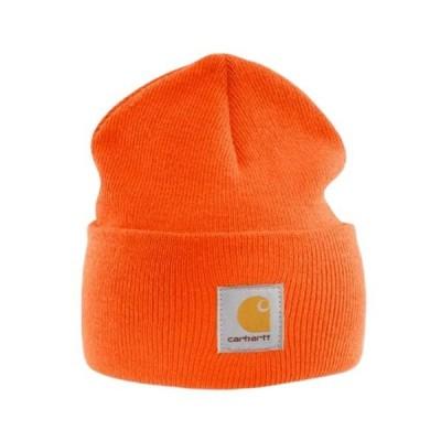 Carhartt - Acrylic Watch Cap - Bright Orange, branded beanie ski hat【並行輸入品】