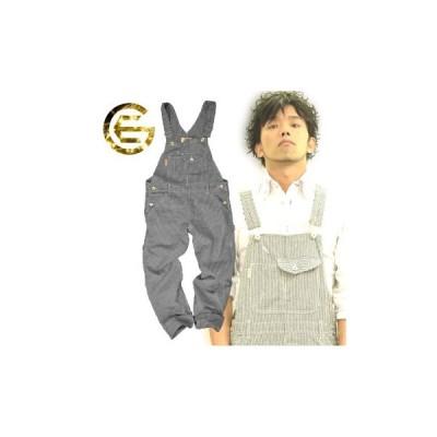 作業服 つなぎ つなぎ メンズ つなぎ服 作業着 ツナギ GE ヒッコリーサロペットパンツ GE-924 「2015 EXS ツナギ」