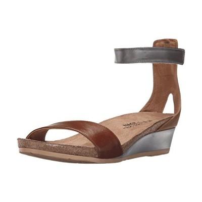 Naot レディース Pixie Wedge Sandal, Maple ブラウン コンボ, 40 EU/9 M US(海外取寄せ品)