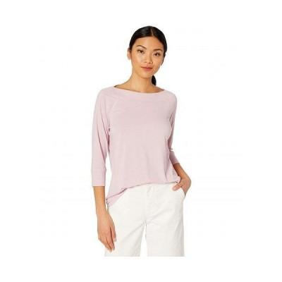 Tribal トリバル レディース 女性用 ファッション Tシャツ 3/4 Sleeve Boat Neck Top - Lilac