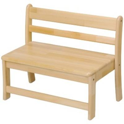 ブロック社 ベンチ幼児用2人掛け<座高23> ~幼稚園・保育園にオススメなブロック社の木製子供用家具。子どもたちが快適に座れるようデ