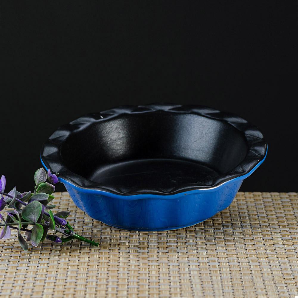 享烘培不沾圓型烤盤-藍