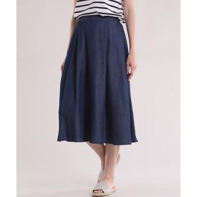 7ID concept フレアロング丈スカート