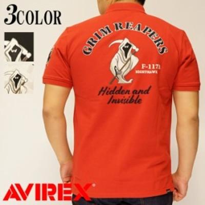 AVIREX[アヴィレックス] GRIMREAPERS グリムリーパーズ 半袖ポロシャツ メンズ 6103398 送料無料