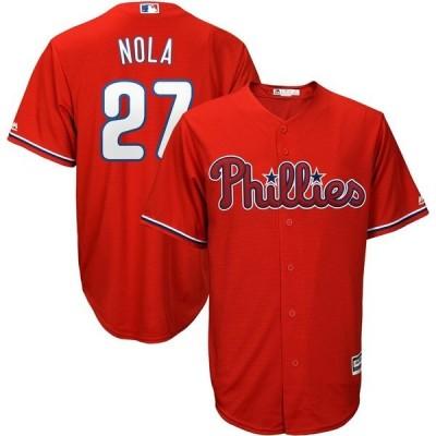 マジェスティック メンズ Tシャツ トップス Aaron Nola Philadelphia Phillies Majestic Alternate Official Cool Base Player Jersey