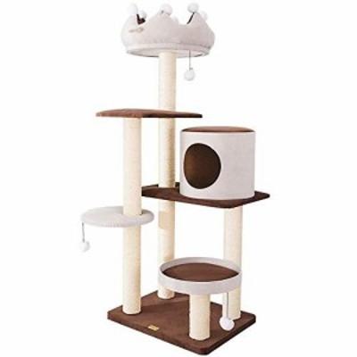 猫の樹冠猫の登山用フレーム大型サイザル柱猫の爪爪板猫眠れる巣猫の木のフ(新古未使用品)