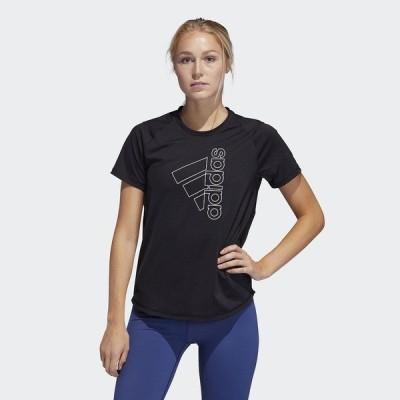 adidas アディダス W D2M TECH BOS Tシャツ IEL31 FQ1988 レディーススポーツウェア ワークアウトTシャツ TOPS レディース ブラック/ホワイト