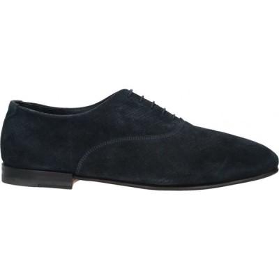 サントーニ SANTONI メンズ 革靴・ビジネスシューズ シューズ・靴 Laced Shoes Dark blue