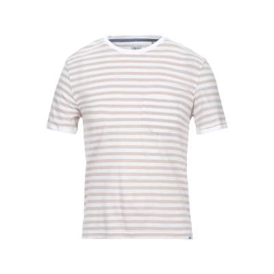 XACUS T シャツ ベージュ 46 コットン 50% / リネン 50% T シャツ