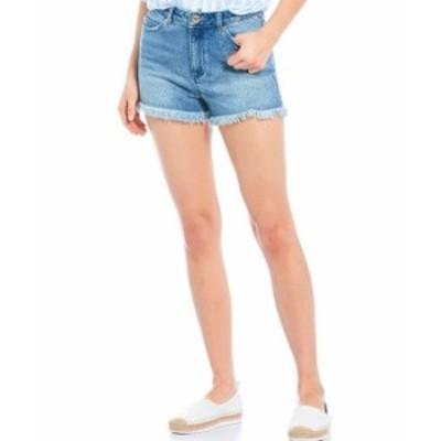 マイケルコース レディース デニムパンツ ボトムス MICHAEL Michael Kors High Waist Cut-Off Shorts Vintage Wash