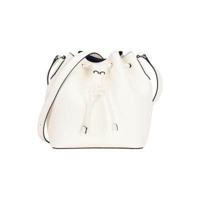 DKNY メッセンジャーバッグ ホワイト 牛革 100% メッセンジャーバッグ