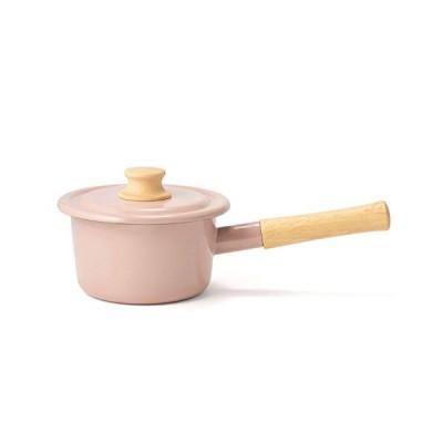 富士ホーロー 片手鍋 ミルクパン コットンシリーズ アッシュピンク 14cm CTN-14M.AP