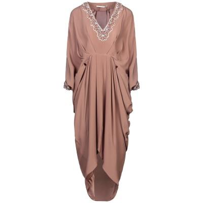 アレッサンドラ・リッチ ALESSANDRA RICH ミニワンピース&ドレス ライトブラウン S シルク 100% ミニワンピース&ドレス
