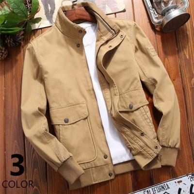 ブルゾンメンズジャケットミリタリージャケットアウタージャンパー秋服スタンドカラーメンズアウター30代40代50代ファッション