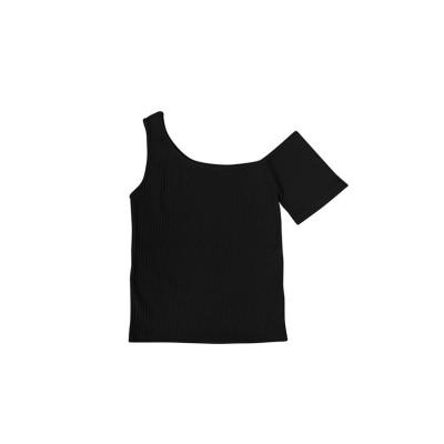 (SILKY/シルキー)アシメスリーブトップス/レディース ブラック