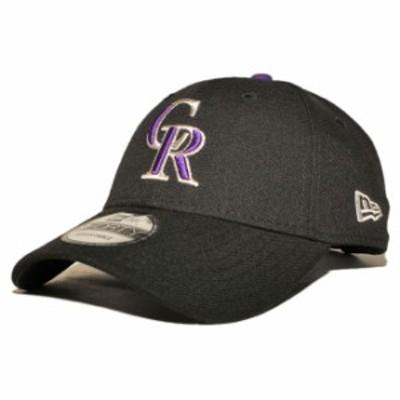 ニューエラ ストラップバックキャップ 帽子 NEW ERA 9forty メンズ レディース MLB コロラド ロッキーズ フリーサイズ [ bk ]