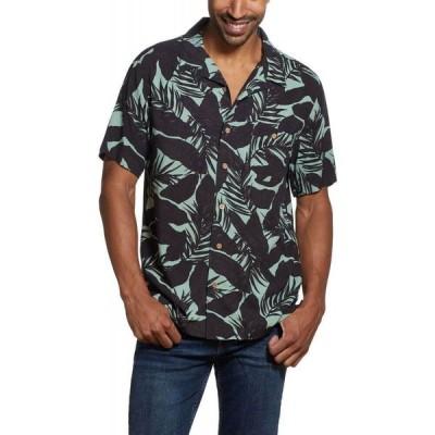 ウェザープルーフ Weatherproof Vintage メンズ 半袖シャツ トップス Short Sleeves Rayon Print Camp Collar Shirt Rifle Green