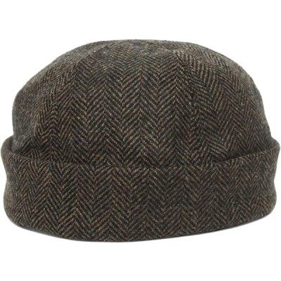 (ニューヨークハット)New York Hat ヘリンボン サグ Herringbone Thug [BROWN] #7920 (XL:約59cm)