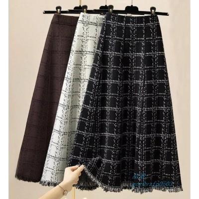 スカート おしゃれ ロング フレアスカート 大きいサイズ 秋冬 マキシスカート ハイウエスト スカート レディース 無地