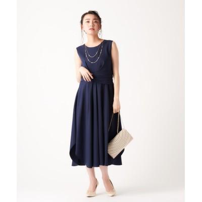ロング裾ヘムドレス