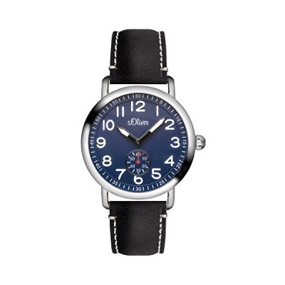 s.Oliver Men's Watch Analogue XL Leather Strap-So 2927?LQ 並行輸入品