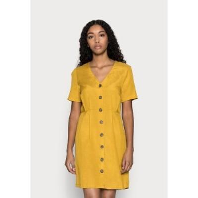 オンリー プティ レディース シャツ トップス ONLVIVA LIFE BUTTON DRESS - Shirt dress - golden spice golden spice