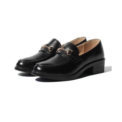 【シュークロ】 ビット付オックスフォードローファー レディース ブラック S Shoes in Closet