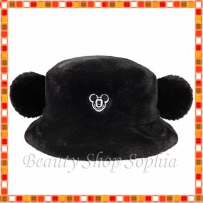 ミッキーマウス 耳付きハット(ブラック) ファー素材 ウインターグッズ2021 ディズニー グッズ お土産【東京ディズニーリゾート限定】