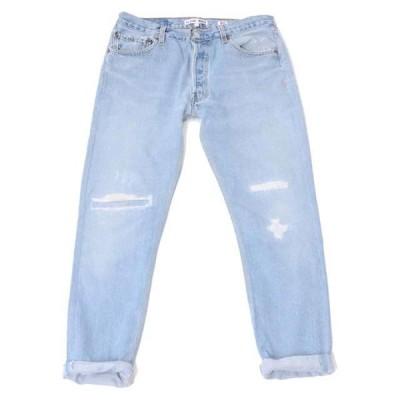 30% OFF リダン(RE/DONE) リペアリラックスジーンズ26inch デニム ライトインディゴ 【正規取扱店】