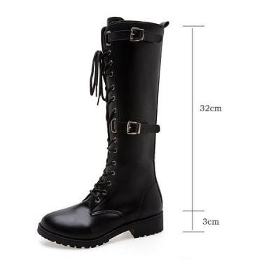 ロングブーツレディースブーツ靴レディース黒太ヒール疲れないブーツふくらはぎゆったりおすすめ大きい筒周りロング