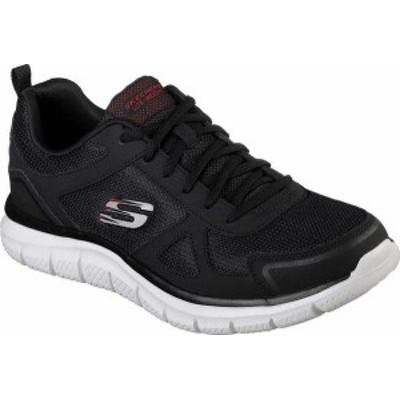 スケッチャーズ メンズ スニーカー シューズ Men's Skechers Track Sneaker Black/Red
