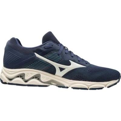 ミズノ スニーカー シューズ メンズ Wave Inspire 16 Running Shoe (Men's) Mood Indigo/Winter White