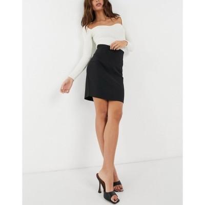 エイソス レディース スカート ボトムス ASOS DESIGN high waist sculpted midi pencil skirt