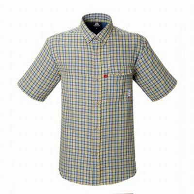 MountainEquipment アウトドアシャツ SS Double Gauze Shirt (ダブルガーゼシャツ)  XS  イエロー