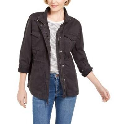 スタイルアンドコー レディース ジャケット&ブルゾン アウター Twill Jacket, Created for Macy's Carbon Grey