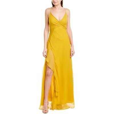 ニコラスカークウッド レディース ワンピース トップス Nicholas Tie-Front Silk Maxi Dress marigold