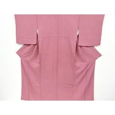 リサイクル 織り柄一つ紋色無地着物