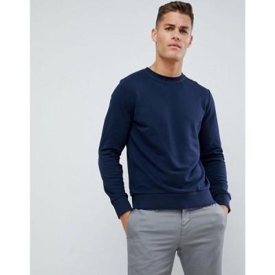 ジャック アンド ジョーンズ Jack & Jones メンズ スウェット・トレーナー トップス Essentials Sweatshirt Navy blazer